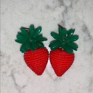 J. Crew Strawberry 🍓 Earrings
